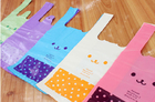Multi Colors Durable Plastic Die Cut Bags For Shop / Supermarket